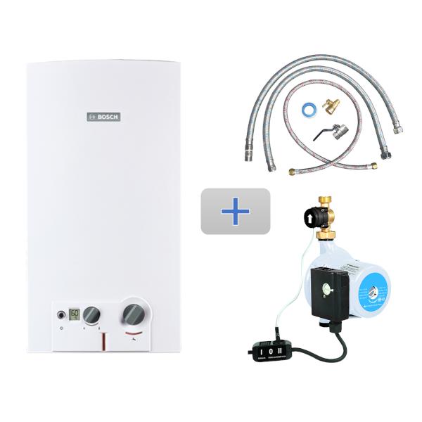 Imagen para Kit MiniMAXX 16 gas natural 3 servicios + Mangueras de conexión / Bomba + Conexión básica de boschmx