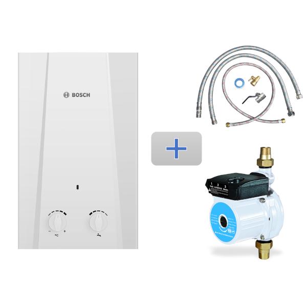 Imagen para Kit Eco 11L gas natural 2 servicios + Mangueras de conexión / Bomba + Conexión básica de boschmx